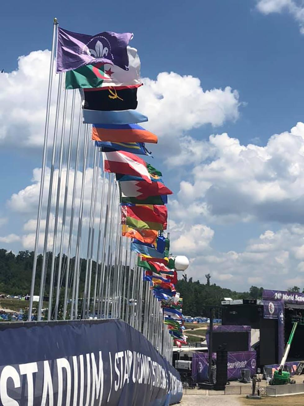 USA Jamboree Flags 2019